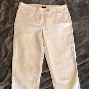 Ann Taylor cropped white pants